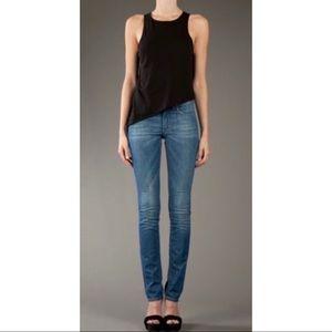 Acne Studios Needle Raw Medium Wash Skinny Jeans